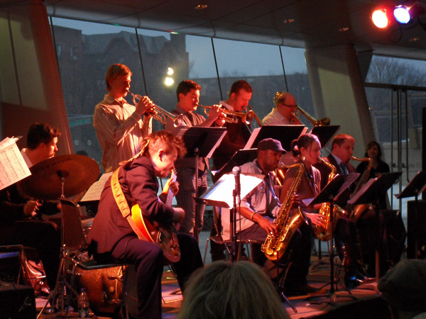 Leading the Fat Cat Big Band at the Brooklyn Museum